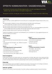 EFFEKTIV KOMMUNIKATION I SAGSBEHANDLING - JUNGE