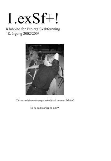 Klubblad for Esbjerg Skakforening 18. årgang 2002/2003