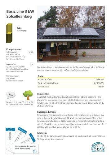 Basic Line 3 kW Solcelleanlæg - Alt om solceller