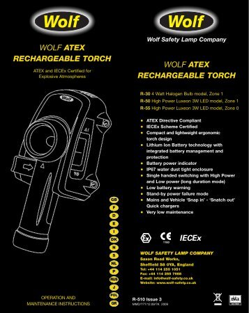 poster TEXT - Wolf Safety Lamp Company