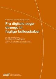 Fra digitale søgestrenge til faglige fællesskaber - DEFF