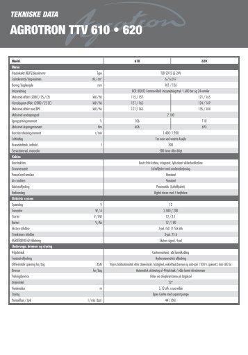 AGROTRON TTV 610 • 620
