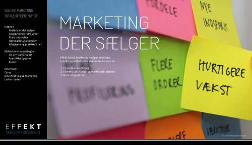 SKRU OP FOR SALGET - Effekt Salg & Marketing