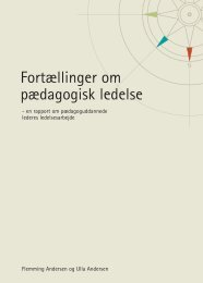 Fortællinger om pædagogisk ledelse - Bupl