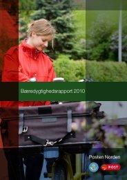 Bæredygtighedsrapport 2010 - PostNord