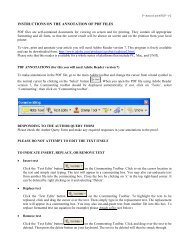 INSTRUCTIONS ON THE ANNOTATION OF PDF FILES