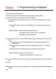 1. Programmering af markiser - Roskilde-gardiner