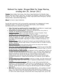 Referat fra mødet 26.01.2011 - Køge Marina