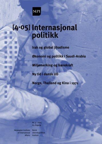 4·05 Internasjonal politikk - Thomas Hegghammer