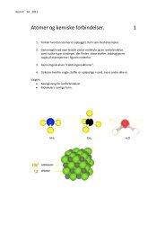 Atomer og kemiske forbindelser. 1 - Herning HF og VUC