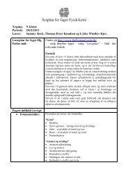 Årsplan for faget Fysik/kemi - Herlufsholm