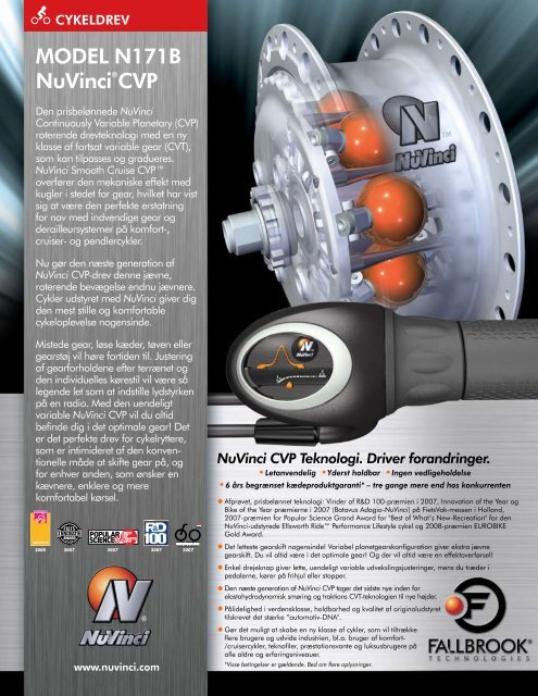 NuVinci N171B Datasheet - Fallbrook Technologies