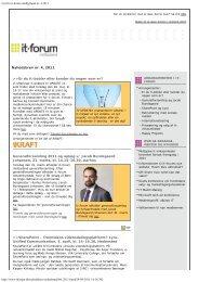 Nyt fra it-forum midtjylland nr. 4 2011