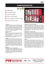 RAMPEGENERATOR - PR electronics