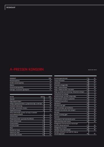 A-Pressen konsern - Årsrapport 2011 A-Pressen