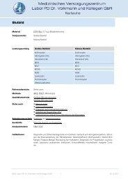 Blutbild - MVZ Labor PD Dr. Volkmann und Kollegen