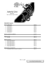 Asteria Live Gifte, medicin, magi & alkymi - Rollespil-Bornholm
