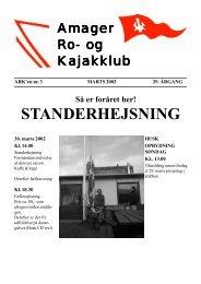 STANDERHEJSNING - Amager ro- og kajakklub