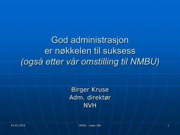 adm.dir. Birger Kruse