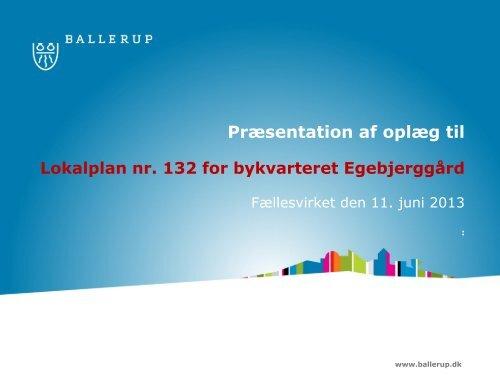 her er første udkast til lokalplan - Egebjerggård