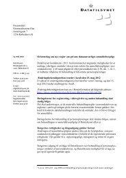 Datatilsynets brev af 14. maj 2012 til Finansrådet