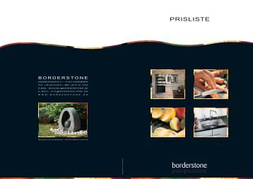 PRISLISTE - Borderstone