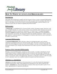 HOW TO WRITE AN ANNOTATED BIBLIOGRAPHY ... - Library
