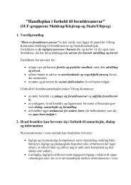 Handleplan for forældreansvar, SUF-grupperne 121112 - Skals Skole