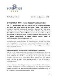 SICHERHEIT 2009 - Eine Messe trotzt der Krise
