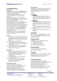 Produktblad - Informatics
