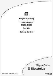 Brugervejledning Tørretumblere T4250, T4350 Selecta Control