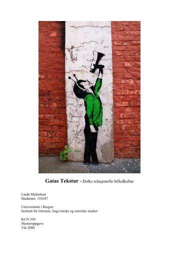 Gatas Tekstur - (BORA) - UiB - Universitetet i Bergen