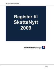 Register SkatteNytt 2009