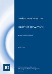 Bollinger champagne - BI Norwegian Business School