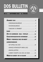 Tilmelding til årsmødet 2002 - Dansk Ortopædisk Selskab