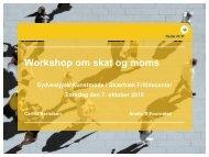 Workshop om skat og moms - Vadehavsprojektet.dk