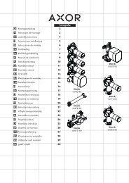 DE Montageanleitung 2 FR Instructions de montage 3 ... - Hansgrohe