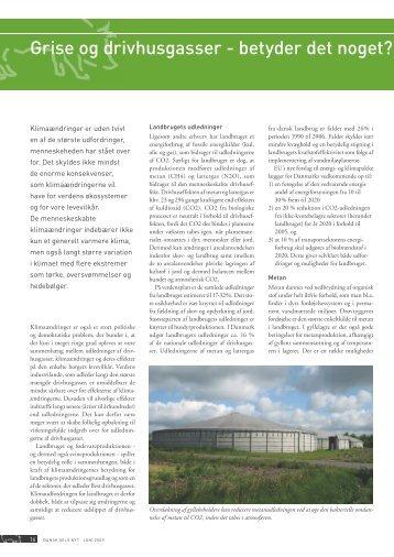 Grise og drivhusgasser - betyder det noget? - Forlaget Børs-Mark A/S