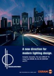 A new direction for modern lighting design. - Osram