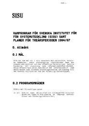 SISU - Ramprogram 1984-1987