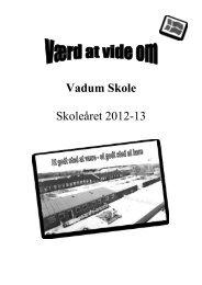 Værd at vide 2012-13 - Vadum Skole