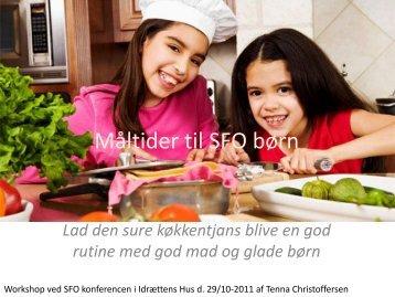 Måltider til SFO børn