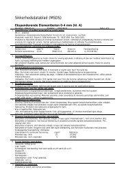 Sikkerhedsdatablad (MSDS) - HauCon A/S