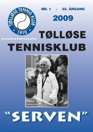 Tennisblad - Nr. 1 - 2009 - Tølløse Tennis Klub