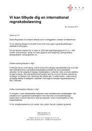 Vi tilbyder dig en International regnskabsløsning - Dania Regnskab
