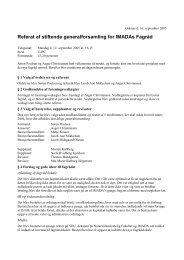 Referat af stiftende generalforsamling for IMADAs ... - Imada Fagråd