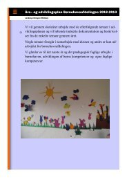 Års– og udviklingsplan Børnehaveafdelingen 2012 ... - Ellidshøj Skole