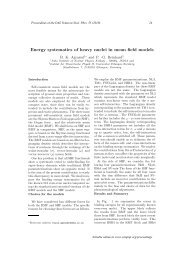 Energy systematics of heavy nuclei in mean field models - DAE ...