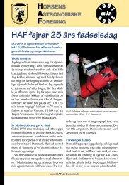 HAF fejrer 25 års fødselsdag - Horsens Astronomiske Forening