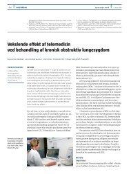 Vekslende effekt af telemedicin ved behandling af kronisk obstruktiv ...